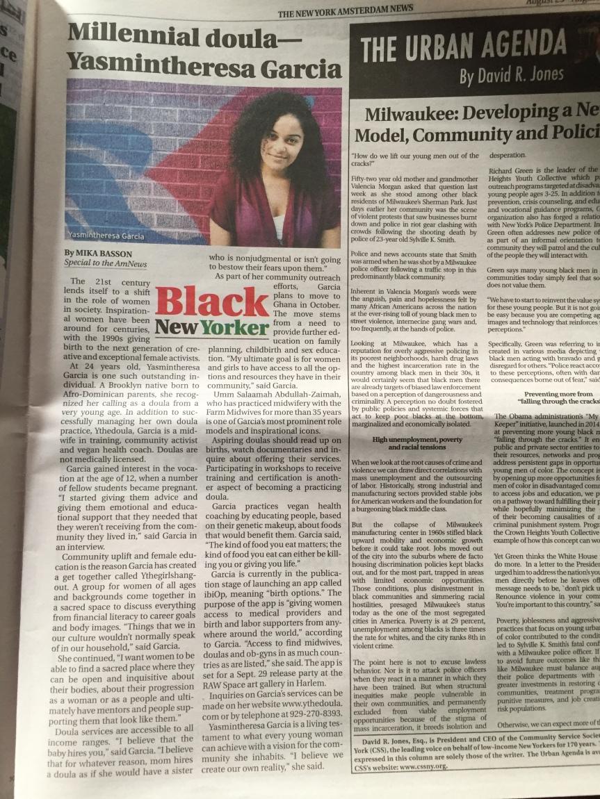 The New York Amsterdam News — Millennialdoula